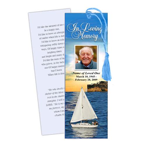 Voyage Memorial Bookmark Template