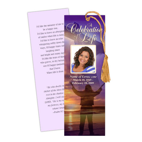Worship Memorial Bookmark Template