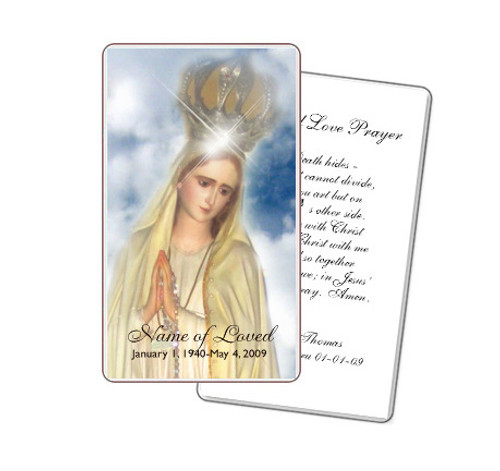 Blessed Prayer Card Template
