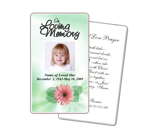 Blossom Prayer Card Template