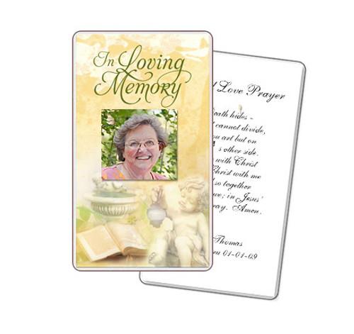 Cherub Prayer Card Template