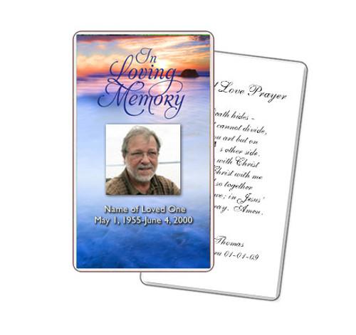 Dusk Prayer Card Template