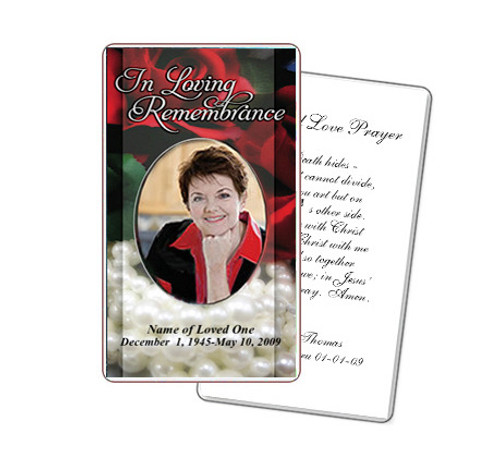 Elegance Prayer Card Template