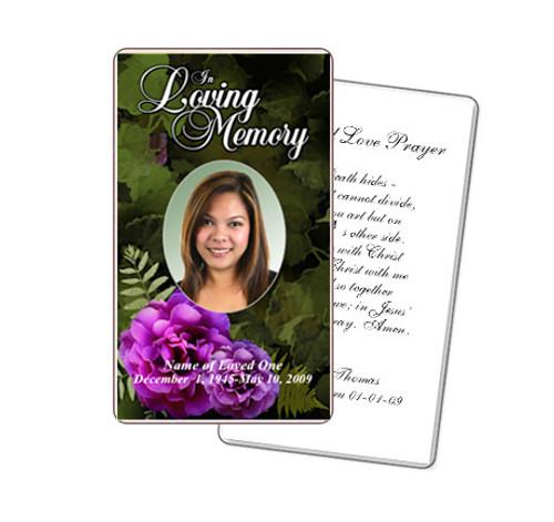 Essence Prayer Card Template