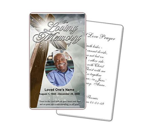 Eternal Prayer Card Template
