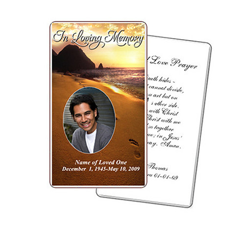 Footprints Prayer Card Template