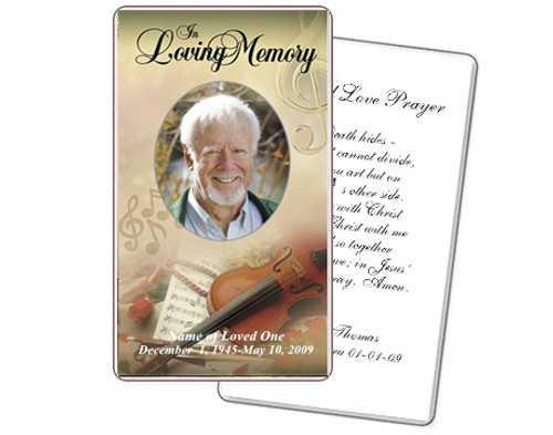 Harmony Prayer Card Template