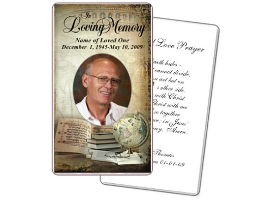 History Prayer Card Template