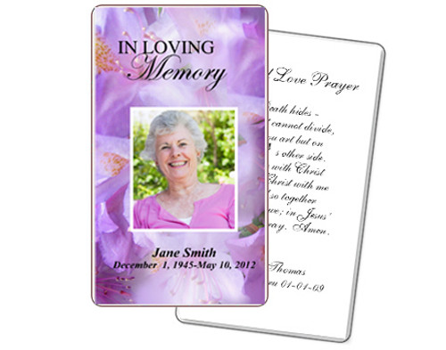 Lavender Prayer Card Template