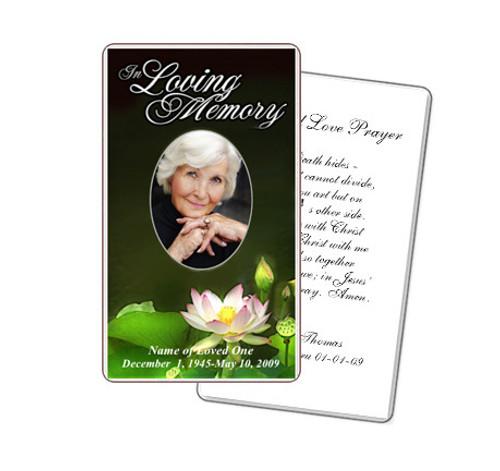 Lotus Prayer Card Template