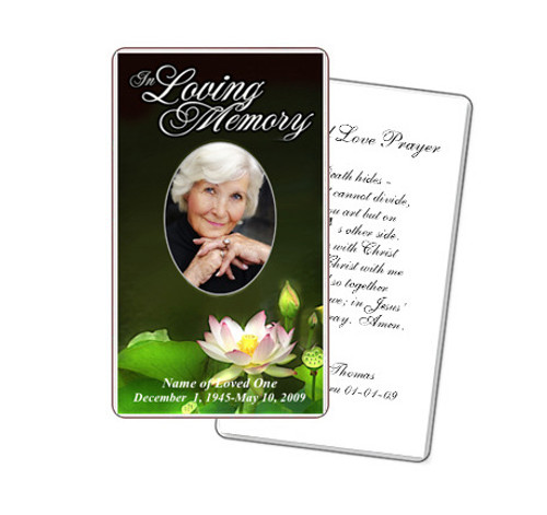 Lotus Prayer Card Template
