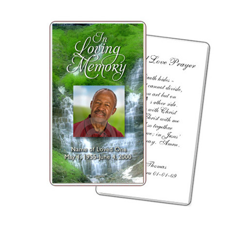 Majestic Prayer Card Template
