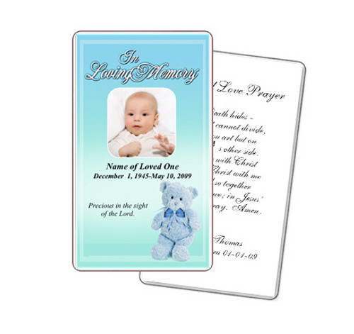 NurseryBoy Prayer Card Template