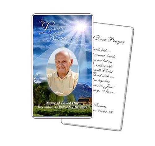 Outdoor Prayer Card Template