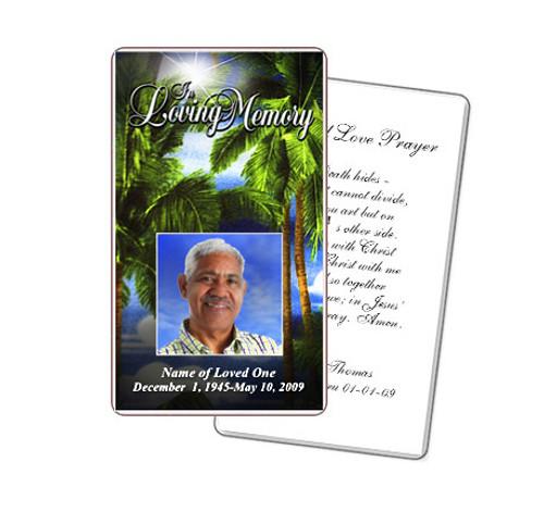 Paradise Prayer Card Template