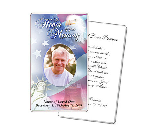 Patriot Prayer Card Template