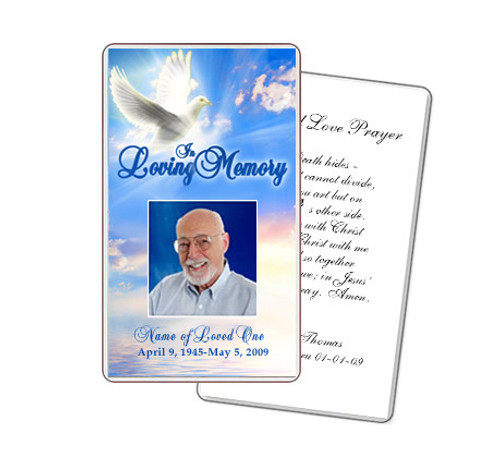 Peace Prayer Card Template
