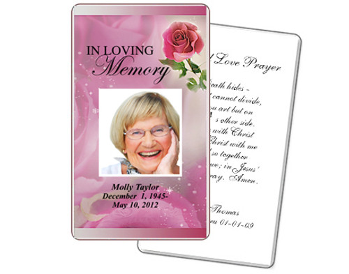 Petals Prayer Card Template