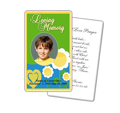 Playful Prayer Card Template
