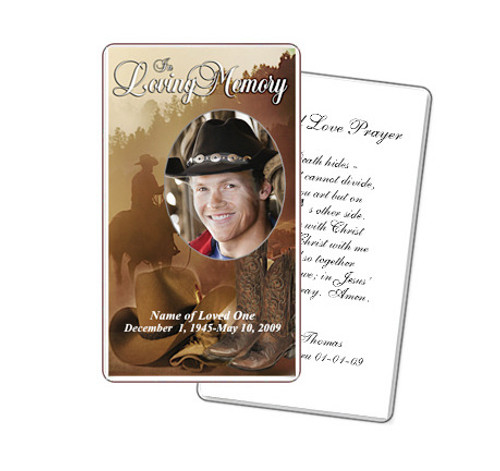 Ranch Prayer Card Template