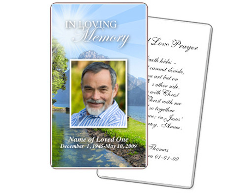 Reflection Prayer Card Template