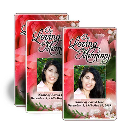 Rosy Prayer Card Template