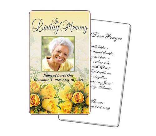 Saffron Prayer Card Template