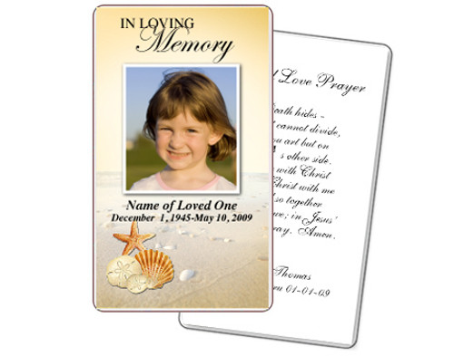 Seashore Prayer Card Template