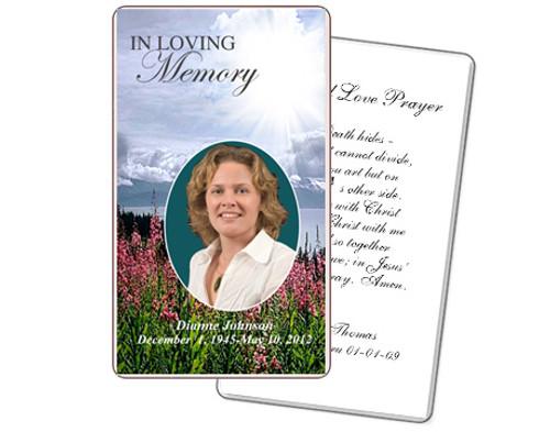 Seasons Funeral Prayer Card Template