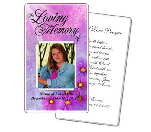 Sparkle Prayer Card Template