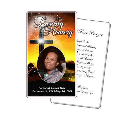 Splendor Prayer Card Template