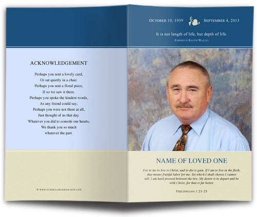 benjamin funeral program template