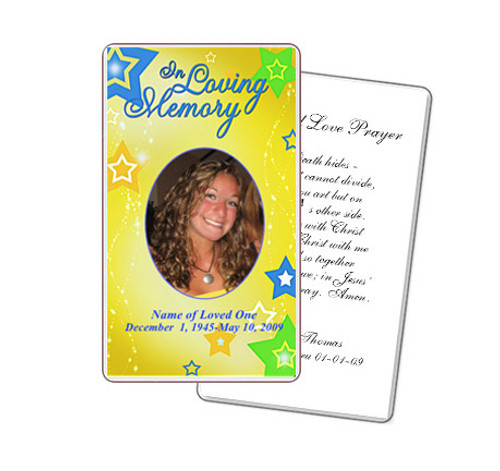 Starry Prayer Card Template
