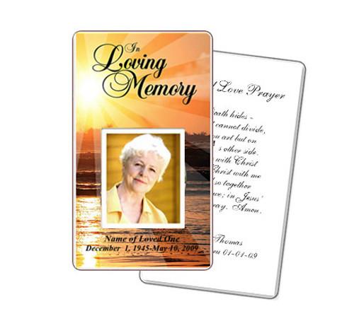 Sunrise Prayer Card Template