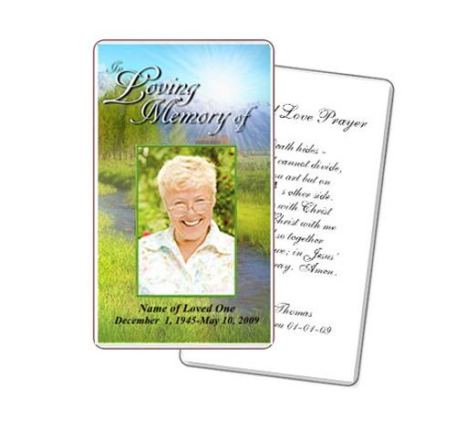 Tranquil Prayer Card Template