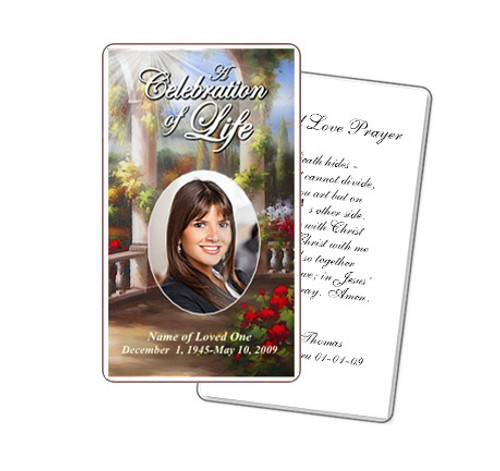 Tuscany Prayer Card Template