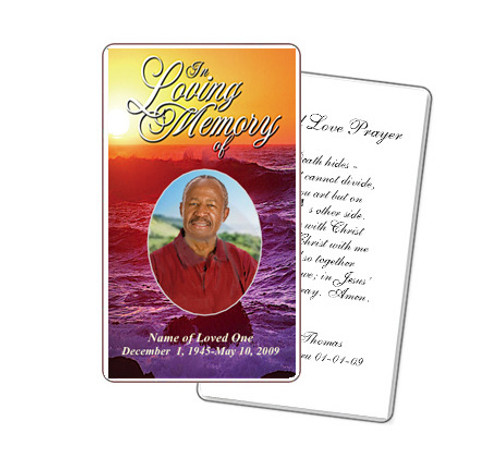 Twilight Prayer Card Template