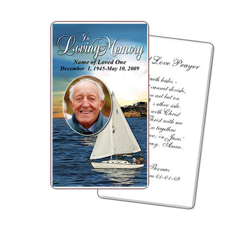 Voyage Prayer Card Template