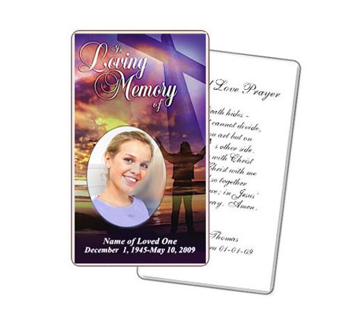 Worship Prayer Card Template