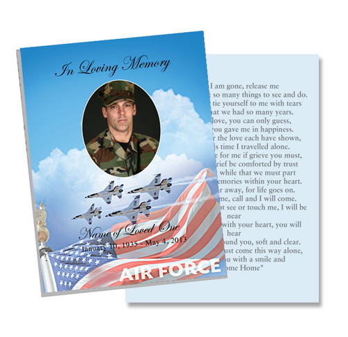 Air Force Flat Card Template