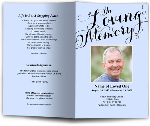 Carolyna In Loving Memory Template (Changeable Color)