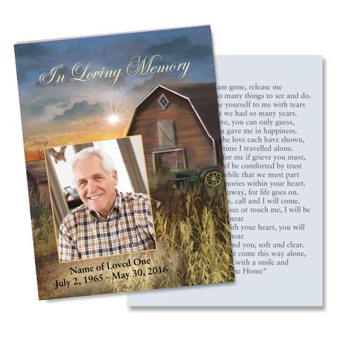 Barn DIY Memorial Card Template