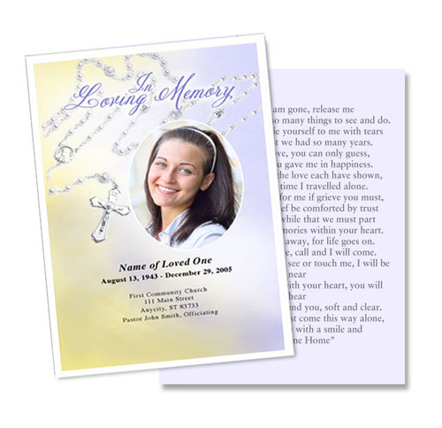 Beads DIY Memorial Card Template