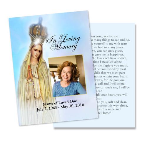 Blessed DIY Memorial Card Template