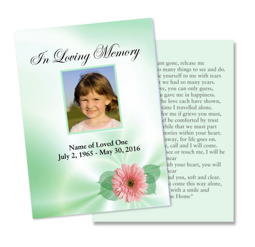Blossom DIY Memorial Card Template