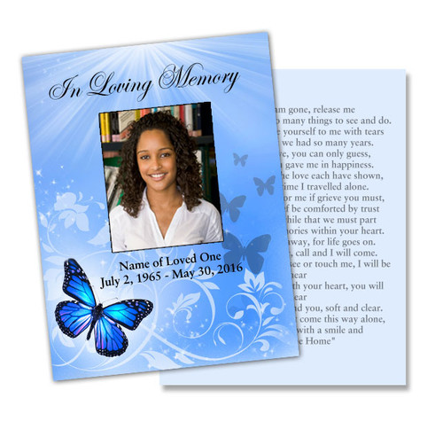Butterfly Flat Card Template