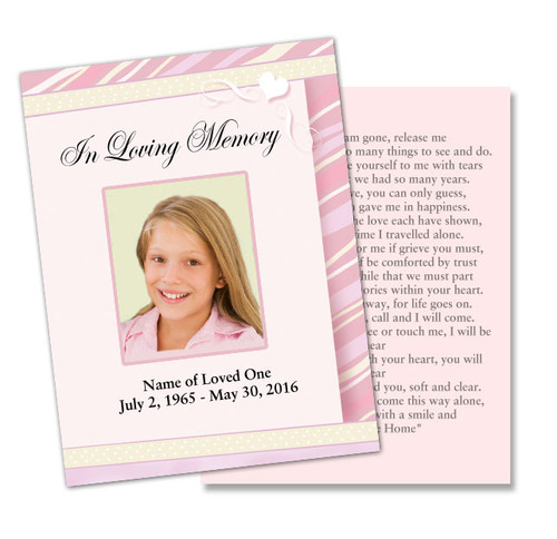 Carly DIY Funeral Card Template