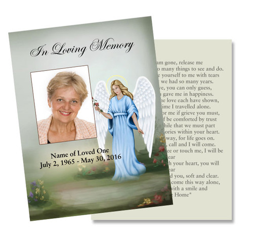 Charity DIY Funeral Card Template