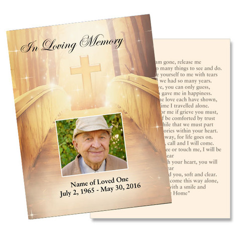 Crossing DIY Funeral Card Template