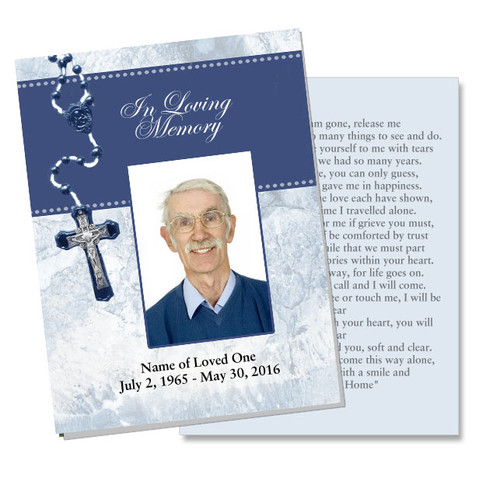 Crucifix DIY Funeral Card Template